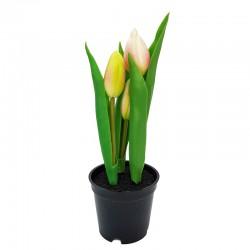 Wielkanocne eleganckie dekoracje tulipany