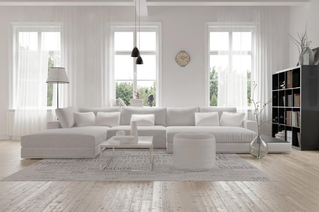 Nowoczesny biały salon. Inspiracje i aranżacje - Blog Villadecor