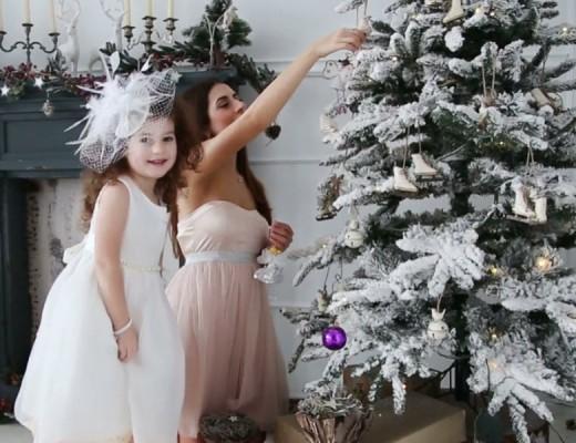 białe dekoracje bożonarodzeniowe