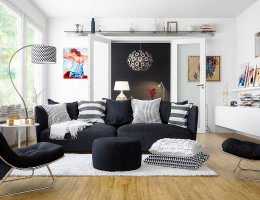 wystrój salonu w stylu skandynawskim
