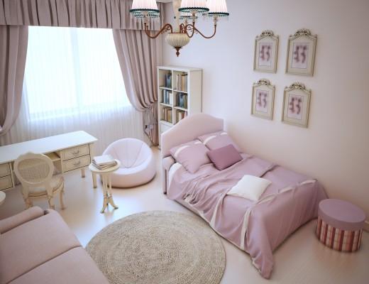 pokój dla dziewczynki w stylu prowansalskim