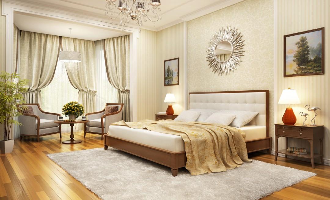 modna sypialnia w klasycznym stylu inspiruj�ce aranżacje