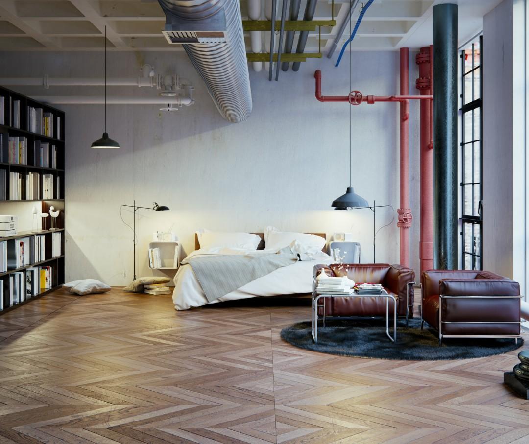 urz dzamy mieszkanie w stylu loft blog villadecor. Black Bedroom Furniture Sets. Home Design Ideas